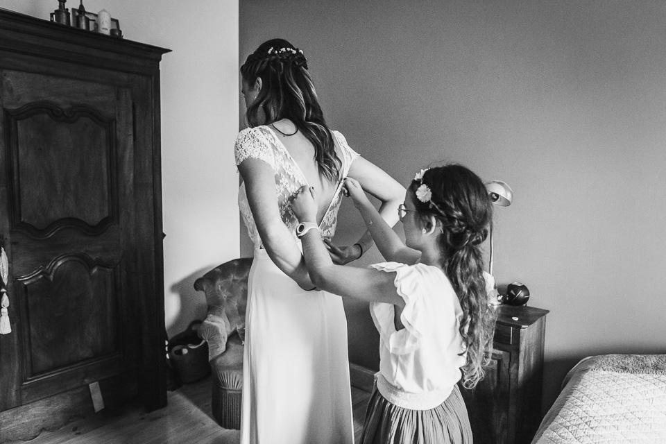 Photographe préparatifs de la mariée