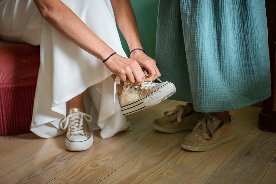 les baskets de la mariée
